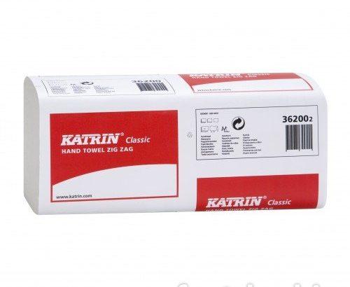 Katrin Classic Zig/Zag 1ply White Hand Towel
