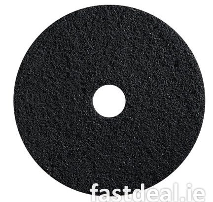 17″ Black Floor Pads