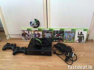 Xbox 360E model 1538 with games