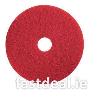 17″ Red Floor Pads