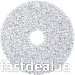 17″ White Floor Pads