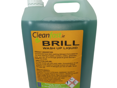 Cleanfast BRILL Washing Up Liquid Data Sheet MSDS