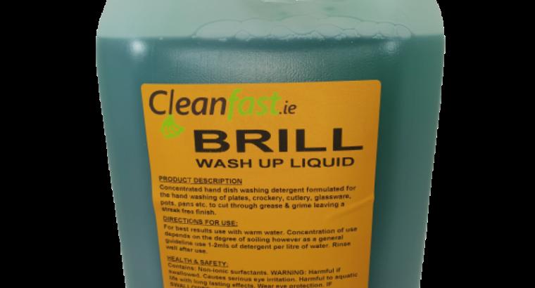 Cleanfast BRILL Washing Up Liquid Data Sheet MSDS