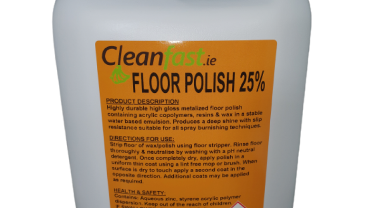 Cleanfast Floor Polish 25% Acrylic Data Sheet MSDS
