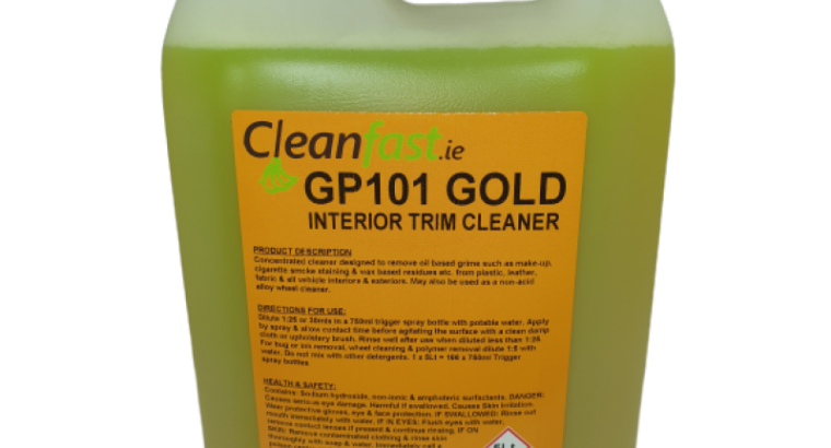 Cleanfast GP 101 Plus Interior Car Trim Cleaner Data Sheet