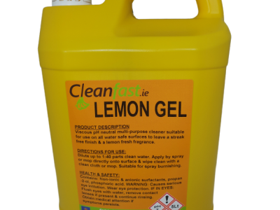 Cleanfast Lemon Gel Floor Cleaner Data Sheet MSDS