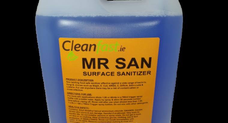 Cleanfast Mr San Food Safe Sanitizer Data Sheet MSDS