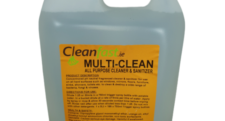 Cleanfast Multi Clean Hard Surface Cleaner Data Sheet