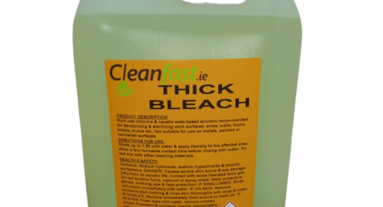 Cleanfast Thick Bleach Extra Data Sheet MSDS