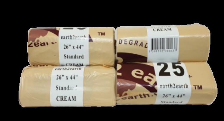 Earth2Earth Standard Refuse Sack Cream – 26″ x 44″