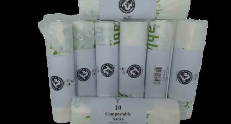 Earth2Earth Compostable Sacks 600 mm x 700 mm – Clear