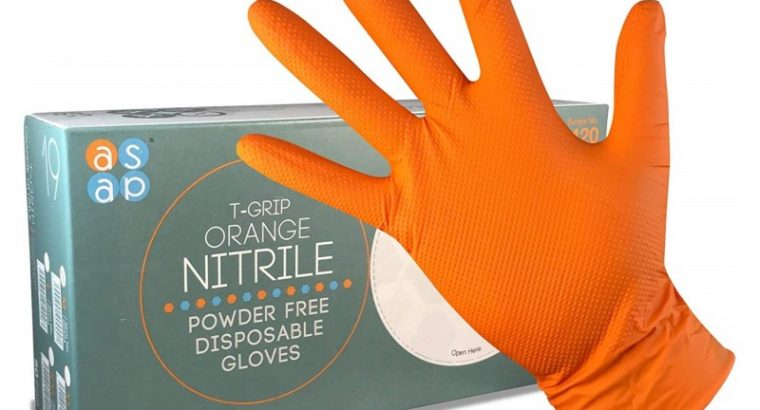 Turn To The ASAP T-Grip Orange Nitrile Gloves For Superior Grip