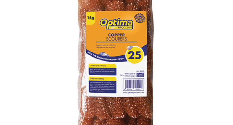 Safe Scrubbing With The Optima Proclean Copper Scourers