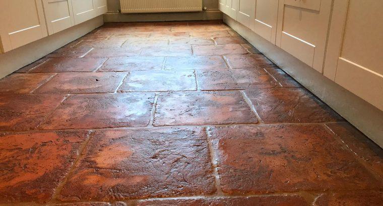 Terracotta Floor Cleaning & Polishing