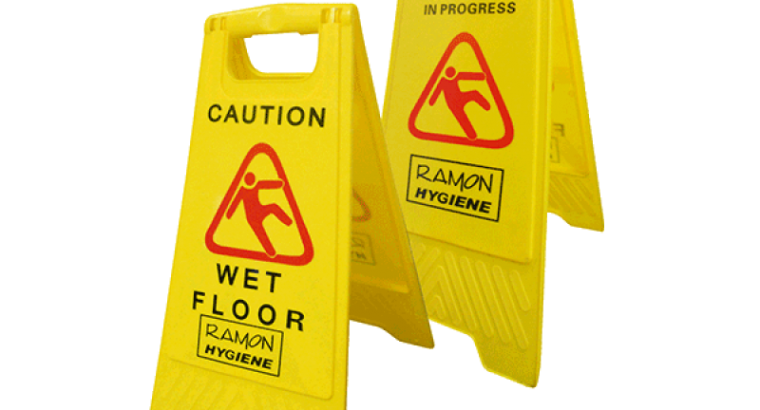 Wet Floor Sign l Dual Side Wet Floor Sign